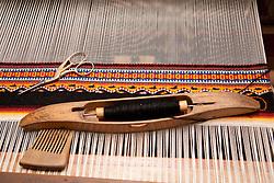 North America, Mexico, Oaxaca Province, Oaxaca, weaving loom