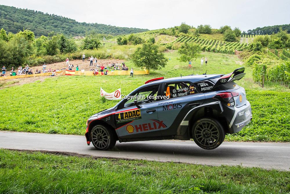 19.08.2016. Mosel, Germany. WRC ADAC rally of Germany, SS3 and SS4.  SORDO Daniel and MARTI Marc (Hyundai Motorsport (GER) / Hyundai i20