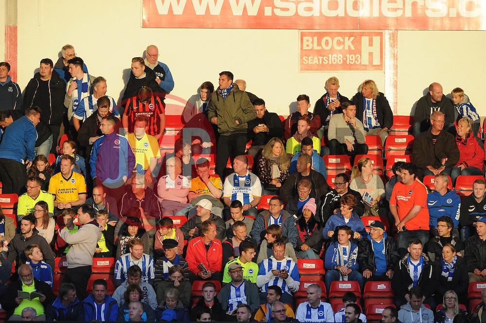 Brighton fans - Mandatory byline: Dougie Allward/JMP - 07966386802 - 25/08/2015 - FOOTBALL - Bescot Stadium -Walsall,England - Walsall v Brighton - Capital One Cup - Second Round