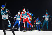 PYEONGCHANG-GUN, SOUTH KOREA - FEBRUARY 12: Nathan Smith of Canada during the Mens Biathlon 12.5km Pursuit at Alpensia Biathlon Centre on February 12, 2018 in Pyeongchang-gun, South Korea. Photo by Nils Petter Nilsson/Ombrello               ***BETALBILD***