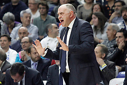 03.12.2015, Palacio de los Deportes, Madrid, ESP, FIBA, EL, Real Madrid vs Fenerbahce Ulker Istanbul, Halbfinale, im Bild Real Madrid's coach Pablo Laso // during thesemifinall Match of the Turkish Airlines Basketball Euroleague between Real Madrid and Fenerbahce Ulker Istanbul at the Palacio de los Deportes in Madrid, Spain on 2015/12/03. EXPA Pictures © 2015, PhotoCredit: EXPA/ Alterphotos/ Acero<br /> <br /> *****ATTENTION - OUT of ESP, SUI*****