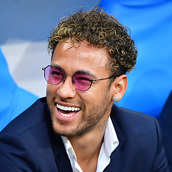 Injured Neymar JR of PSG before the French Cup Final between Les Herbiers and Paris Saint Germain at Stade de France on May 8, 2018 in Paris, France. (Photo by Dave Winter/Icon Sport)