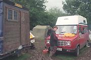 Camping Raver, Glastonbury, 1992.