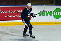 KELOWNA, BC - SEPTEMBER 22:  James Neal #18 of the Edmonton Oilers skates during practice at Prospera Place on September 22, 2019 in Kelowna, Canada. (Photo by Marissa Baecker/Shoot the Breeze)