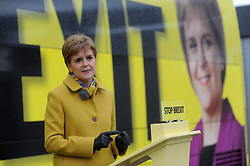 Nicola Sturgeon - Port Edgar-South Queensferry - 05-12-2019<br /> <br /> Nicola Sturgeon with the tour bus<br /> <br /> (c) David Wardle | Edinburgh Elite media