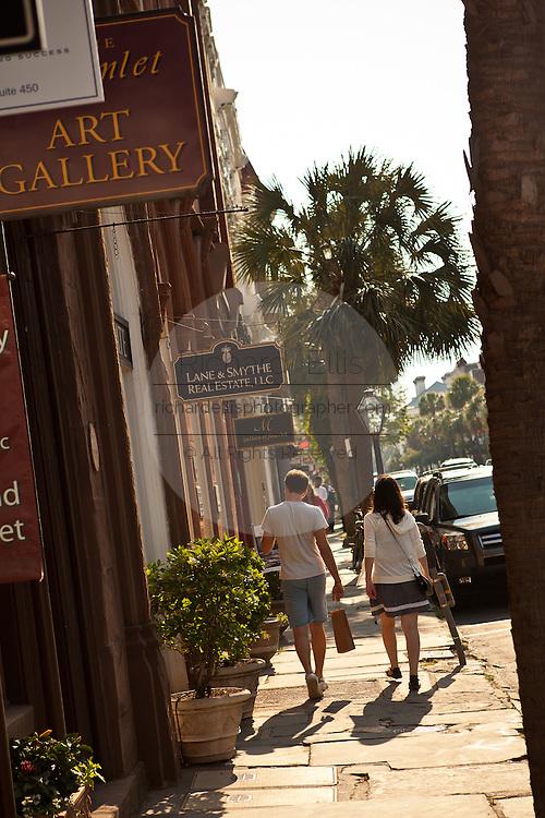 Shopping along Broad Street Charleston, SC.