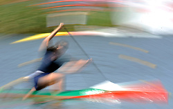 CANOIST COMPETES IN WOMEN'S C1 200 METERS QUALIFICATION RACE DURING 2010 ICF KAYAK SPRINT WORLD CHAMPIONSHIPS ON MALTA LAKE IN POZNAN, POLAND...POLAND , POZNAN , AUGUST 21, 2010..( PHOTO BY ADAM NURKIEWICZ / MEDIASPORT ).