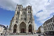 Frankrijk, Amiens, 13-5-2013Exterieur van de gotische kathedraal uit de 13e eeuw.Foto: Flip Franssen/Hollandse Hoogte