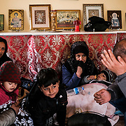 MARASIA, GREECE - FEBRUARY 29: Afghan migrants who crossed into the Greece from the Turkish border hunker down in a small Greek Orthodox chapel on Saturday, February 29, 2020. Turkey said it would no longer stop refugees from reaching Europe a day after the country suffered heavy losses during an attack in Syria.