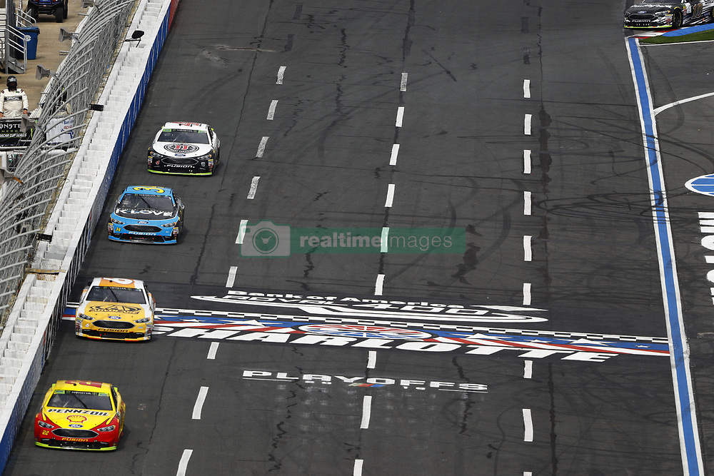 September 30, 2018 - Concord, North Carolina, United States of America - Joey Logano (22) races during the Bank of America ROVAL 400 at Charlotte Motor Speedway in Concord, North Carolina. (Credit Image: © Chris Owens Asp Inc/ASP via ZUMA Wire)