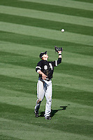 May 5, 2007: #8 Alex Citron looks to catch a fly ball as the Chicago White Sox played the Los Angeles Angels of Anaheim at Anaheim Stadium in Anaheim, CA. White Sox defeated the Angels 6-3 in regulation..