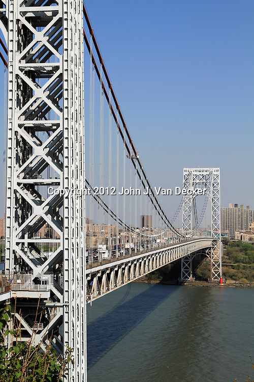 George Washington Bridge as seen from Fort Lee, New Jersey, USA