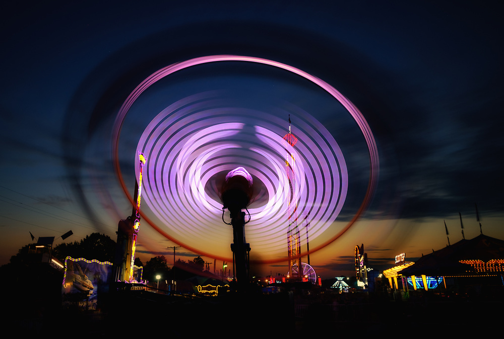 Dusk, Howard County Fair.