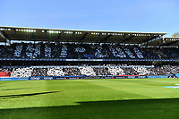 """Fotball Menn Eliteserien Rosenborg - Lillestrøm<br /> Lerkendal Stadion, Trondheim<br /> 20 mai 2017<br /> <br /> <br /> I forbindelse med 100-årsjubileet holdt publikum opp hvite og svarte ark. Her står det """"1917-2017"""" Illustrasjon<br /> <br /> <br /> <br /> Foto : Arve Johnsen, Digitalsport"""