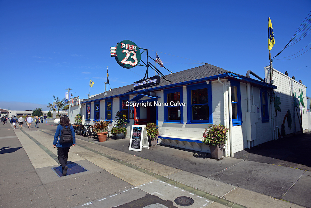 Pier 23 Cafe in port of San Francisco, California.