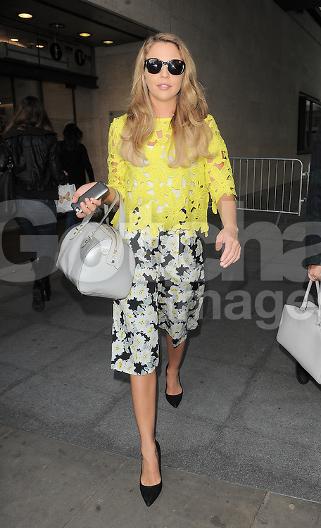 TOWIE star Lydia Bright leaving BBC Radio 1 in central London, UK. 03/10/2014<br />