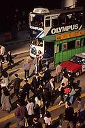 Hong Kong. Tramway in central , at business time;   / tramways dans  - central  -  à l'heure de sortie des bureaux;   / R00092/36    L940323b  /  P0001839