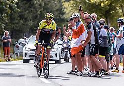08.07.2019, Wiener Neustadt, AUT, Ö-Tour, Österreich Radrundfahrt, 2. Etappe, von Zwettl nach Wiener Neustadt (176,9 km), im Bild Sebastian Schoenberger (Neri Selle Italia KTM, AUT) // Sebastian Schoenberger (Neri Selle Italia KTM, AUT) during 2nd stage from Zwettl to Wiener Neustadt (176,9 km) of the 2019 Tour of Austria. Wiener Neustadt, Austria on 2019/07/08. EXPA Pictures © 2019, PhotoCredit: EXPA/ JFK