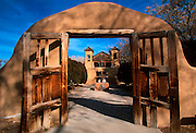 NEW MEXICO, MISSIONS Santuario de Chimayo near Santa Fe