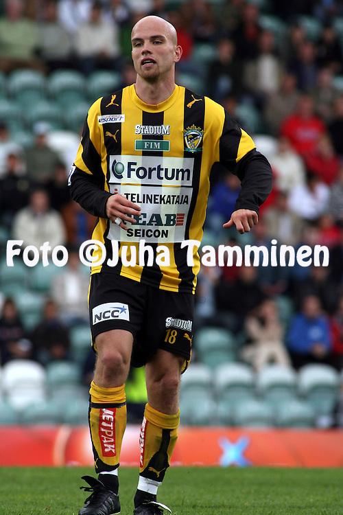 14.06.2007, Veritas Stadion, Turku, Finland..Veikkausliiga 2007 - Finnish League 2007.TPS Turku - FC Honka.Rami Hakanp?? - Honka.©Juha Tamminen.....ARK:k