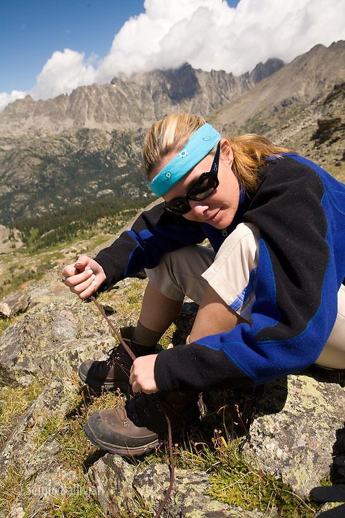 Hiking the Arapaho Pass in the Rocky Mountains near Nederland, CO