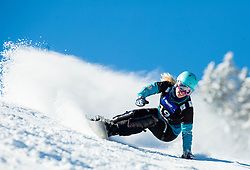 Isabella Laboeck of Germany competes during Qualification Run of Ladies' Parallel Giant Slalom at FIS Snowboard World Cup Rogla 2015, on January 31, 2015 in Course Jasa, Rogla, Slovenia. Photo by Vid Ponikvar / Sportida