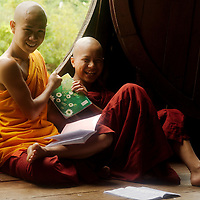 Monks at classroom of Shwe Yan Pya monastery