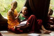 Monks at classroom of Shwe Yan Pya monastery