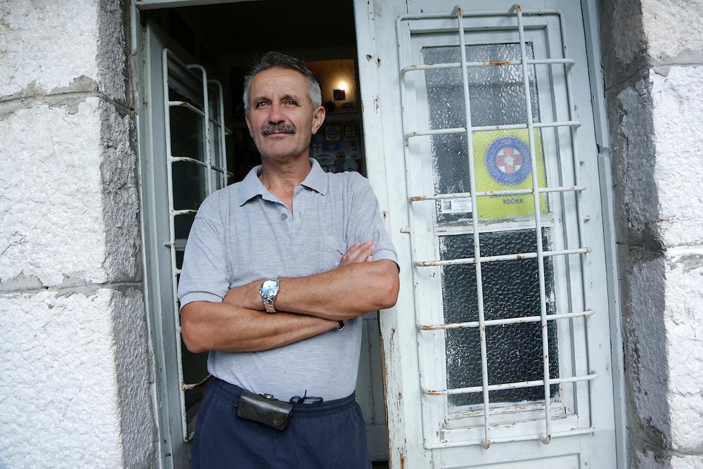Spiro Gruica (Shpiro), keeper of the mountain home 'Umberto Girometta', 868m, Mosor, Croatia.