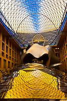 Sculpture in central courtyard of the Deutsche Zentral Bank (DZ), Pariser Platz 3 (by architect Frank Gehry), Berlin, Germany