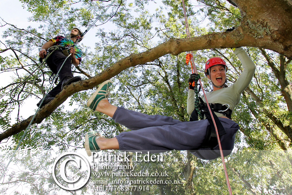 Bestival tree climbing Photographs of the Isle of Wight by photographer Patrick Eden photography photograph canvas canvases