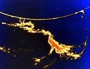 Solar flare - X-ray image. NASA photograph.