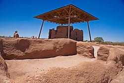 Building ruins, Casa Grande Ruins National Monument, Coolidge, Arizona, United States of America