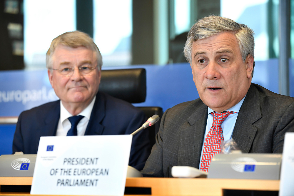 11 May 2017, 123rd Plenary Session of the European Committee of the Regions <br /> Belgium - Brussels - May 2017 <br /> EP President Tajani and CoR President Markkula <br /> &copy; European Union / Fred Guerdin