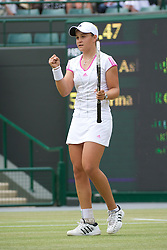 LONDON, ENGLAND - Sunday, July 3, 2011: Ashleigh Barty (AUS) celebrates winning the Girls' Singles Final match on day thirteen of the Wimbledon Lawn Tennis Championships at the All England Lawn Tennis and Croquet Club. (Pic by David Rawcliffe/Propaganda)
