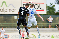 Aleksandar Boskovic of NS Mura vs. Lovro Bizjak NK Domzale during football match between NS Mura and NK Domzale in 3rd Round of Prva liga Telekom Slovenije 2018/19, on Avgust 05, 2018 in Mestni stadion Fazanerija, Murska Sobota, Slovenia. Photo by Mario Horvat / Sportida