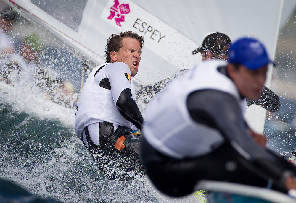 ENGLAND, Weymouth. 30th July 2012. Olympic Games. Laser class. Race 2. Wannes van Laer (BEL).