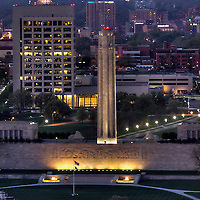 Kansas CIty's Liberty Memorial / National World War One Museum; midtown Kansas City, Missouri in background.