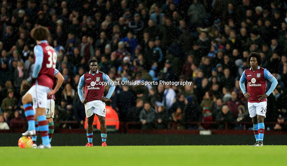 28th November 2015 - Barclays Premier League - Aston Villa v Watford -  Aston Villa look dejected after conceding (1-3) - Photo: Paul Roberts / Offside.