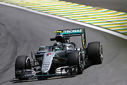 Nico Rosberg (GER) Mercedes AMG F1  <br /> 11.11.2016. Formula 1 World Championship, Rd 20, Brazilian Grand Prix, Sao Paulo, Brazil, Practice Day.<br /> Copyright: Charniaux / XPB Images / action press