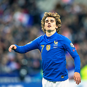 PARIS, FRANCE - March 25:  Antoine Griezmann #7 of France celebrates his sides victory during the France V Iceland, 2020 European Championship Qualifying, Group Stage at  Stade de France on March 25th 2019 in Paris, France (Photo by Tim Clayton/Corbis via Getty Images)