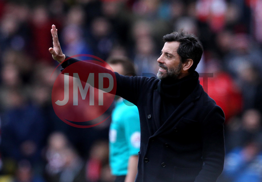 Watford Manager Quique Sanchez Flores - Mandatory byline: Robbie Stephenson/JMP - 19/03/2016 - FOOTBALL - Vicarage Road - Watford, England - Crystal Palace v Leicester City - Barclays Premier League
