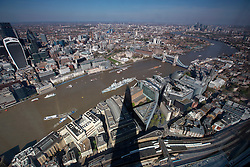 UK ENGLAND LONDON 21APR15 - View of the London skyline from The Shard, Europe's tallest building.<br /> <br /> <br /> <br /> jre/Photo by Jiri Rezac<br /> <br /> <br /> <br /> © Jiri Rezac 2015