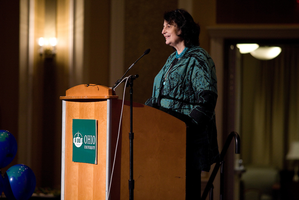 Dr. Janet Bennett gives the keynote speech at the opening reception of International Education Week at Ohio University in Athens, Ohio on Tuesday, November 12, 2013. Photo by Chris Franz