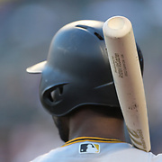 NEW YORK, NEW YORK - June 14: Andrew McCutchen #22 of the Pittsburgh Pirates preparing to bat during the Pittsburgh Pirates Vs New York Mets regular season MLB game at Citi Field on June 14, 2016 in New York City. (Photo by Tim Clayton/Corbis via Getty Images)