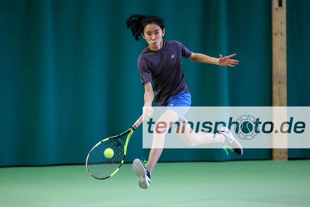 Julia Zhu (Verein für Körperkultur), Siegerin und Meisterin 2018 in der U14 weiblich, TVBB-Jugendhallenmeisterschaften 2018 U12 und U14, Seeburg, 21.01.2018, Foto: Claudio Gärtner