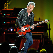 "WASHINGTON, DC - April 9th  2013 -  Lindsey Buckingham of Fleetwood Mac performs at the Verizon Center in Washington, D.C. during the band's 2013 World Tour. Fleetwood Mac, touring for the first time since 2009, is including two new songs in their setlist, ""Sad Angel"" and ""Without You."" (Photo by Kyle Gustafson/For The Washington Post)"