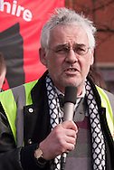 Martin Meyer , Unite speaking at the demonstration outside the Liberal Democrat Spring Conference in Sheffield. 12-03-2011.