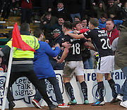 Dundee fans celebrate with Paul McGowan after the midfielder's last minute winner - Dundee v Partick Thistle, SPFL Premiership at Dens Park<br /> <br />  - &copy; David Young - www.davidyoungphoto.co.uk - email: davidyoungphoto@gmail.com