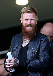 Icelandic International Aron Gunnarsson in attendance at Queens Park Rangers vs Swindon Town in The EFL Cup - Mandatory by-line: Robbie Stephenson/JMP - 10/08/2016 - FOOTBALL - Loftus Road - London, England - Queens Park Rangers v Swindon Town - EFL League Cup